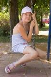 Девушка на качании Стоковые Фото