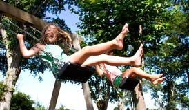 Девушка на качании Стоковое Фото