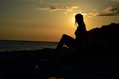 Девушка на море Стоковое Фото