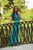 Девушка на мосте Стоковые Фото
