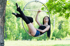 Девушка на обруче Стоковые Фотографии RF