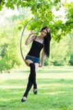 Девушка на обруче Стоковое Изображение