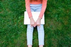Девушка на парке Стоковое фото RF