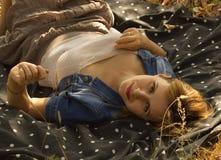 Девушка на природе Стоковое Фото