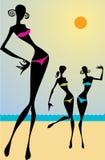 Девушка на пляже Стоковое Изображение RF