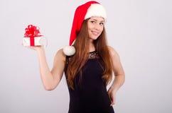 Девушка на рождестве Стоковые Фотографии RF