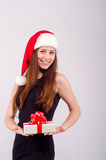Девушка на рождестве Стоковая Фотография RF