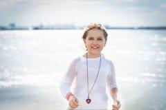 Девушка на свободном полете Стоковое Изображение