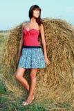 Девушка на Сене Стоковое фото RF