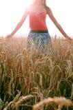 Девушка на Сене Стоковое Изображение