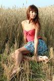 Девушка на Сене Стоковое Изображение RF