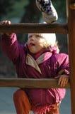 Девушка на спортивной площадке Стоковая Фотография