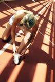 Девушка на стадионе Стоковое Изображение RF