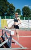 Девушка на стадионе Стоковые Изображения RF