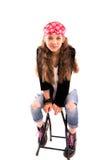 Девушка на стуле Стоковые Изображения RF