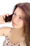 Девушка на телефоне Стоковые Фотографии RF