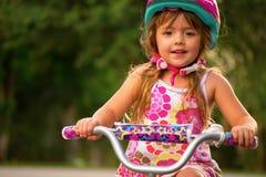 Девушка на Bike Стоковое Изображение RF