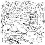девушка немногая ласточка Иллюстрация вектора