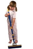 девушка немногая осадка mop Стоковая Фотография RF