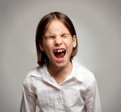 девушка немногая screaming Стоковая Фотография