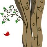 Девушка ног Стоковая Фотография