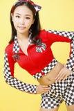 Девушка нося sportswear Стоковые Фото