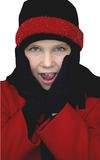 девушка одежды зимняя Стоковое Изображение