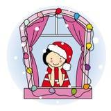 Девушка одетьнная как Santa Claus бесплатная иллюстрация