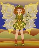 Девушка осени маленькая fairy, вектор Стоковое фото RF