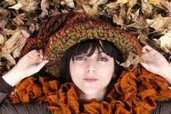 Девушка осени Стоковое фото RF