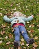 Девушка осени Стоковое Изображение RF