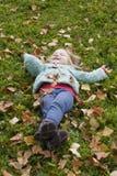 Девушка осени Стоковые Фото