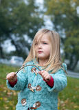 Девушка осени Стоковое Изображение