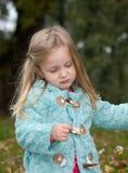 Девушка осени Стоковая Фотография RF