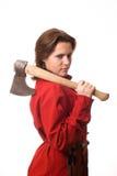 девушка оси ее плечо стоковое изображение