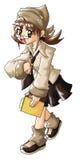 Девушка доски сзажимом для бумаги Стоковая Фотография RF