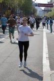девушка отделки около бегунка Стоковая Фотография RF