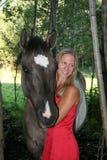 Девушка лошади Стоковое Изображение RF