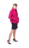 девушка пальто Стоковое Изображение