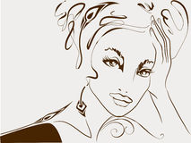 девушка парижская бесплатная иллюстрация