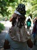 Девушка парка вереска Hampstead стоковое изображение rf