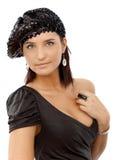 Девушка партии в сексуальном платье Стоковые Фотографии RF