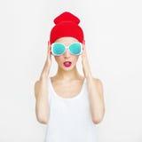 Девушка партии моды стоковое фото rf