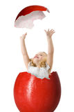 девушка пасхального яйца Стоковые Изображения