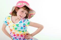 девушка пасхи bonnet немногая Стоковое фото RF