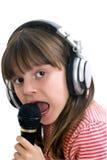 девушка пеет Стоковое фото RF