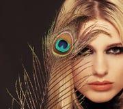 девушка пера Стоковое Изображение RF
