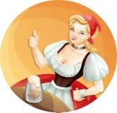 Девушка пива Стоковое фото RF