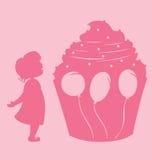 девушка пирожня Стоковая Фотография