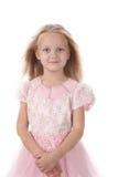 девушка платья шикарная немногая пинк стоковое изображение rf